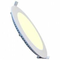 LED Downlight Slim - Inbouw Rond 6W - Warm Wit 3000K - Mat Wit Aluminium - Ø120mm