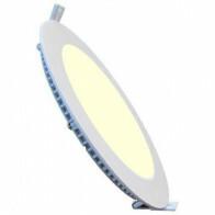 LED Downlight Slim - Inbouw Rond 18W - Warm Wit 3000K - Mat Wit Aluminium - Ø225mm
