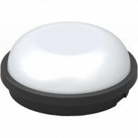 LED Plafondlamp - Artony - Opbouw Rond - Waterdicht IP65 - Helder/Koud Wit 6400K - Mat Zwart Kunststof