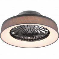 LED Plafondlamp met Ventilator - Plafondventilator - Trion Farali - 30W - Aanpasbare Kleur - Rond - Mat Grijs - Kunststof