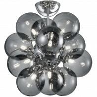 LED Plafondlamp - Plafondverlichting - Trion Alionisa - G9 Fitting - 12-lichts - Rond - Glans Chroom Rookglas - Aluminium
