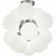 LED Plafondlamp - Plafondverlichting - Trion Alionisa - G9 Fitting - 12-lichts - Rond - Mat Nikkel - Aluminium