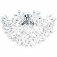 LED Plafondlamp - Plafondverlichting - Trion Blowly - E14 Fitting - 3-lichts - Rond - Glans Chroom - Aluminium