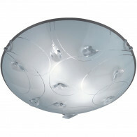 LED Plafondlamp - Plafondverlichting - Trion Corado - E27 Fitting - 2-lichts - Rond - Mat Chroom - Aluminium
