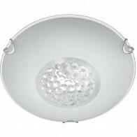 LED Plafondlamp - Plafondverlichting - Trion Cornio - E27 Fitting - 1-lichts - Rond - Mat Chroom - Aluminium