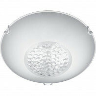 LED Plafondlamp - Plafondverlichting - Trion Cornio - E27 Fitting - 2-lichts - Rond - Mat Chroom - Aluminium