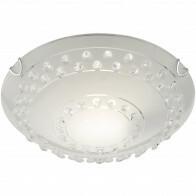LED Plafondlamp - Plafondverlichting - Trion Crasto - E27 Fitting - 1-lichts - Rond - Mat Wit - Aluminium