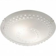 LED Plafondlamp - Plafondverlichting - Trion Crasto - E27 Fitting - 2-lichts - Rond - Mat Wit - Aluminium