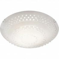 LED Plafondlamp - Plafondverlichting - Trion Crasto - E27 Fitting - 3-lichts - Rond - Mat Wit - Aluminium