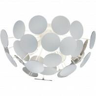 LED Plafondlamp - Plafondverlichting - Trion Discon - E14 Fitting - 3-lichts - Rond - Mat Wit Aluminium