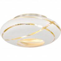 LED Plafondlamp - Plafondverlichting - Trion Fary - E27 Fitting - 2-lichts - Rond - Mat Wit - Aluminium