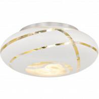 LED Plafondlamp - Plafondverlichting - Trion Fary - E27 Fitting - 3-lichts - Rond - Mat Wit - Aluminium