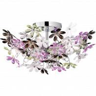 LED Plafondlamp - Plafondverlichting - Trion Flowy - E14 Fitting - 4-lichts - Rond - Glans Chroom Aluminium