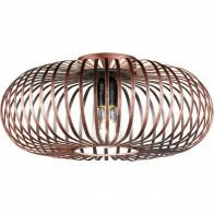 LED Plafondlamp - Plafondverlichting - Trion Johy - E27 Fitting - Rond - Industrieel - Mat Koper - Aluminium