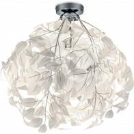 LED Plafondlamp - Plafondverlichting - Trion Lovy - E14 Fitting - Rond - Glans Chroom Aluminium