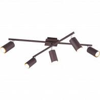 LED Plafondlamp - Plafondverlichting - Trion Mary - GU10 Fitting - 5-lichts - Rechthoek - Roestkleur - Aluminium