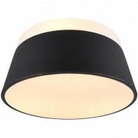 LED Plafondlamp - Trion Barnaness - E27 Fitting - 3-lichts - Rond - Mat Zwart - Aluminium