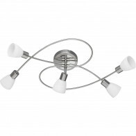LED Plafondlamp - Trion Caru - 15W - G9 Fitting - Warm Wit 3000K - Dimbaar - Rond - Mat Nikkel - Aluminium