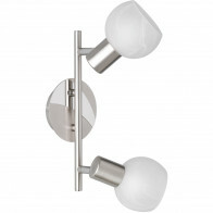LED Plafondspot - Trion Besina - E14 Fitting - 2-lichts - Rond - Mat Nikkel - Aluminium