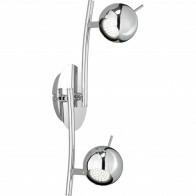 LED Plafondspot - Trion Borlo - GU10 Fitting - 2-lichts - Rond - Glans Chroom - Aluminium