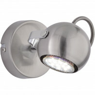 LED Plafondspot - Trion Bosty - GU10 Fitting - 1-lichts - Rond - Mat Nikkel - Aluminium