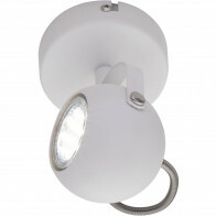 LED Plafondspot - Trion Bosty - GU10 Fitting - 1-lichts - Rond - Mat Wit - Aluminium