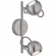 LED Plafondspot - Trion Bosty - GU10 Fitting - 2-lichts - Rond - Mat Nikkel - Aluminium