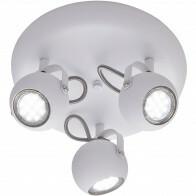 LED Plafondspot - Trion Bosty - GU10 Fitting - 3-lichts - Rond - Mat Wit - Aluminium