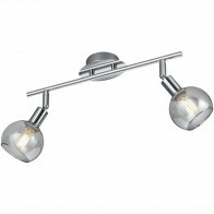 LED Plafondspot - Trion Brista - E14 Fitting - 2-lichts - Rond - Glans Chroom - Aluminium