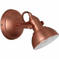 LED Plafondspot - Trion Gini - E14 Fitting - 1-lichts - Rond - Mat Koper - Aluminium