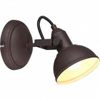LED Plafondspot - Trion Gini - E14 Fitting - 1-lichts - Rond - Roestkleur - Aluminium