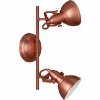 LED Plafondspot - Trion Gini - E14 Fitting - 2-lichts - Rond - Mat Koper - Aluminium