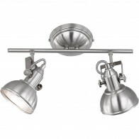 LED Plafondspot - Trion Gini - E14 Fitting - 2-lichts - Rond - Mat Nikkel - Aluminium