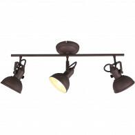 LED Plafondspot - Trion Gini - E14 Fitting - 3-lichts - Rond - Roestkleur - Aluminium