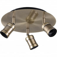 LED Plafondspot - Trion Korli - E27 Fitting - 3-lichts - Rond - Mat Brons - Aluminium