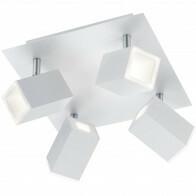 LED Plafondspot - Trion Laginos - 24W - Warm Wit 3000K - Vierkant - Mat Wit - Aluminium