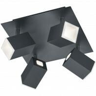 LED Plafondspot - Trion Laginos - 24W - Warm Wit 3000K - Vierkant - Mat Zwart - Aluminium