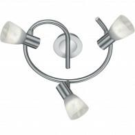 LED Plafondspot - Trion Levino - E14 Fitting - Warm Wit 3000K - 3-lichts - Rond - Mat Nikkel - Aluminium