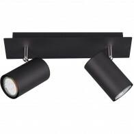 LED Plafondspot - Trion Mary - GU10 Fitting - 2-lichts - Rechthoek - Mat Zwart - Aluminium