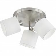 LED Plafondspot - Trion Torry - E14 Fitting - 3-lichts - Rond - Mat Nikkel - Aluminium