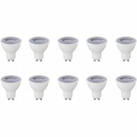 LED Spot 10 Pack - GU10 Fitting - Dimbaar - 6W - Helder/Koud Wit 6400K