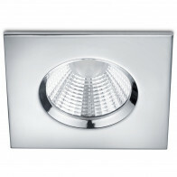 LED Spot - Inbouwspot - Trion Zagrona - 5W - Waterdicht IP65 - Dimbaar - Warm Wit 3000K - Glans Chroom - Aluminium - Vierkant