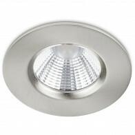LED Spot - Inbouwspot - Trion Zagrona - 5W - Waterdicht IP65 - Dimbaar - Warm Wit 3000K - Mat Nikkel - Aluminium - Rond
