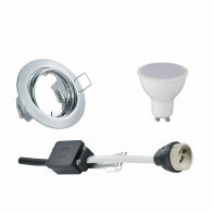 LED Spot Set - Trion - GU10 Fitting - Inbouw Rond - Glans Chroom - 6W - Natuurlijk Wit 4200K - Kantelbaar Ø83mm