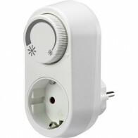 LED Stekkerdimmer - Priso Tuby - Opbouw - Enkel Knop - 3-24W - Wit