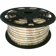 LED Strip - Aigi Strabo - 50 Meter - Dimbaar - IP65 Waterdicht - Helder/Koud Wit 6500K - 5050 SMD 230V