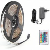 LED Strip Set - Aigi Stippi - 5 Meter - 5050-30 - RGB - Waterdicht IP65 - Afstandsbediening - 12V