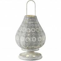 LED Tafellamp - Tafelverlichting - Trion Jesma - E14 Fitting - Rond - Antiek Grijs - Aluminium