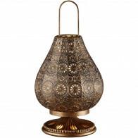 LED Tafellamp - Tafelverlichting - Trion Jesma - E14 Fitting - Rond - Antiek Koper - Aluminium