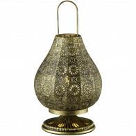 LED Tafellamp - Tafelverlichting - Trion Jesma - E14 Fitting - Rond - Oud Brons - Aluminium